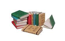 Libros en miniatura para mostrar-escala 1/12 - Juego De Doce Libros-Nuevo-D2349