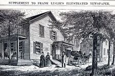 Chappaqua New York 1872 MR. GREELEY FARM HOUSE  Matted Antique Print Engraving
