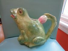 INTRADA Ceramic Pitcher hand painted - made in Italy - FROG - BEAUTIFUL