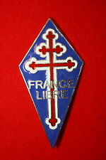 GOOD COPY WW2 FREE FRENCH FRANCE LIBRE ENAMEL POCKET BADGE LARGE SIZE #2