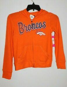 Denver Broncos Girl's Medium 7/8 Hooded Zipper Coat,