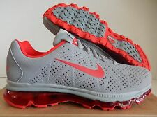 NIKE AIR MAX + 2011 LEA LEATHER STEALTH-CHALLENGE RED-GREY SZ 10 [456325-060]