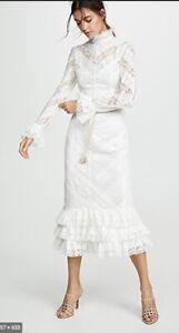 Zimmermann Veneto Perennial Long Dress   White, Lace, Midi, Bridal $2,000 RRP