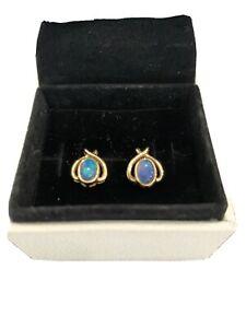 Gold Opal earrings By Evert Opals