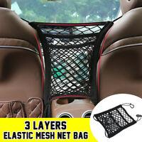 Elastic Mesh Net Bag Between Seat Storage Organizer Luggage Holder Pocket Black