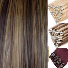 Brown Blonde Hair Extensions Clip-in Hair Human Feel Light Blonde Brown streaks