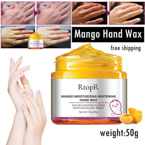 Exfoliate Mango  Hand Cream Peel-Off Hand Wax Mask Treatment Remove Dead Skin UK