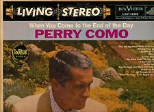 PERRY COMO-WHEN YOU COME TO THE END OF THE DAY-RCA VICTOR STEREO LP NM SHADED DO