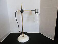 Pottery Barn West Elm Factory Task TABLE Art Desk Lamp Antique Brass Light