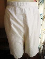 "24"" Waist sz 6 True Vtg 60s White Cotton Side Zipper Carol Brent Womens Shorts"
