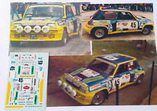 Décal Renault 5 Turbo de Paoletti Tour de Corse 1984  - 1/43 -