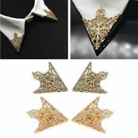 Hot Spike Stud Blouse Shirts Collar Neck Tip Brooch Pin Retro Punk 2pcs