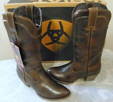 ARIAT Bluebell Brown Leather Western Boots Size 9.5 M