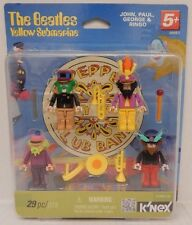 K'Nex The Beatles YELLOW SUBMARINE (John, Paul, George & Ringo)  Figure Set -NIP