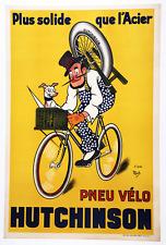 Pneu Velo Hutchinson - Original Vintage Bicycle Poster - Cycling - Mich