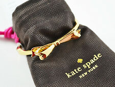 Kate Spade New York Love Notes Large Bow Gold Bangle Bracelet $48