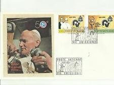 133957 BUSTA PRIMO GIORNO FDC CON SETA PAPA GIOVANNI PAOLO SECONDO 1981