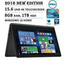 """NEW Dell Inspiron 2-in-1 15.6"""" 4K Ultra HD Touch-Screen Laptop Intel Core i7 8GB"""