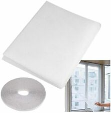 WINDOW SCREEN NET MESH FLY INSECT WHITE BLACK BUG MOSQUITO MOTH DOOR NETTING NEW