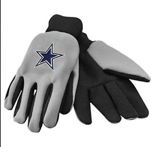 Brand NEW  NFL Licensed Dallas Cowboys Black Grip Glove Work Glove Utility Glove
