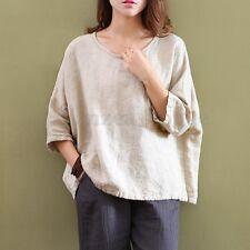 Zanzea 2017 Women Vintage Oversized Pullover Basic Tops Blouse T-Shirt Plus Size