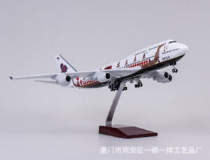 1:150 Geminijets Thai Airways Boeing 747-400 Airplane Passanger Plane Voice Ligh