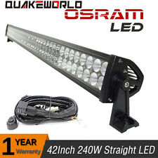 "240W 42"" Straight LED Light Bar Combo Beam Off road Pickup Ford GMC SUV Truck"