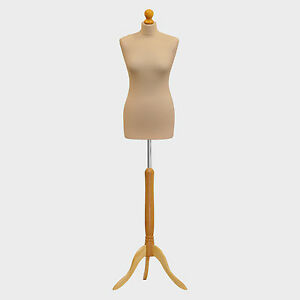 Tailors Dummy Bust Female UK 10/12 Dressmakers Student Sewing Mannequin Display