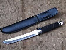 Couteau de chasse Tanto en acier AUS-6 + étui noir - Tanto knife