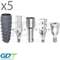 5 Implantation Set For Conical RP, Active Hex, Dental Implants GDT Brand