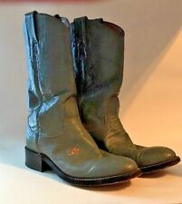 Woman's Nocona Rose # 133 Green Leather Roper Western Cowboy Boots Size 4 1/2