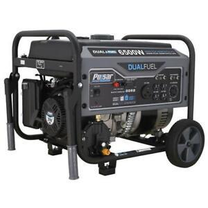 Pulsar 6500 Peak/5500 Rated Watt Dual Fuel Gas/LPG Portable Generator G65BN