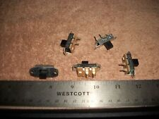 LOT OF SPST MOMENTARY SLIDE SWITCHES-RADIOS-STEREOS! S
