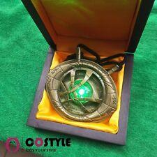 Dr. Strange LED 1:1  Eye of Agamotto Halloween Cosplay Amulet Pendant Necklace