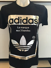 ADIDAS SUPERSTAR OG BLACK GRAPHIC TEE T SHIRT MENS SIZE LARGE NWT