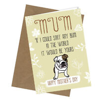 #132 MOTHERS DAY CARD MUM Comedy Rude Greetings Card Funny Humour Love Cheeky