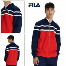 Fila Mens Naso Track Jacket Casual Retro Sport Fitness Activewear Zip Up Top