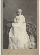 Vintage Baby LONG Gown Photo Cabinet Card Chicago