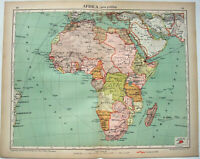 Africa - Original 1915 Political Map by Kartographia Winterthur S.A. Antique