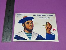 RARE CHROMO 1935 JOSEPH-MILLIAT Façons de fumer : PIPE BRULE-GUEULE