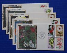 "Palau (59-62) 1984 Christmas Flowers Colorano ""Silk"" FDCs"