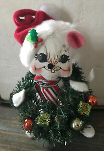 """Annalee Christmas Mouse / 2010 / """"I can carry the Wreath!"""" //EUC//"""