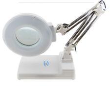220V LED Desk Table Magnifier Lamp 10X Magnifying Reading Inspection Lamp 6500K