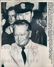 1960 Policeman Watches Marshal Josip Tito of Yugoslavia Arrives NYC Press Photo