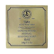 Taylor of Old Bond Street Sandalwood Herbal Shaving Soap Bar Refill 100g - 01051