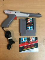 Nintendo NES Zapper Light Gun Plus Super Mario Bros Duck Hunt Game Cartridge