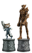 Eaglemoss Marvel Chess Rocket & Groot Figurines - Special #002 White Bishops