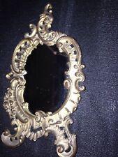 Small Vintage Victorian Brass Mirror Estate Find