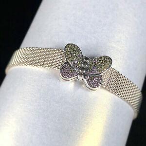 Genuine PANDORA Reflexions Bedazzling Butterfly Clip Charm - 797864CZM