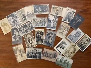 25 Indian / Native American Real Photo Postcards / RPPC Lot 3